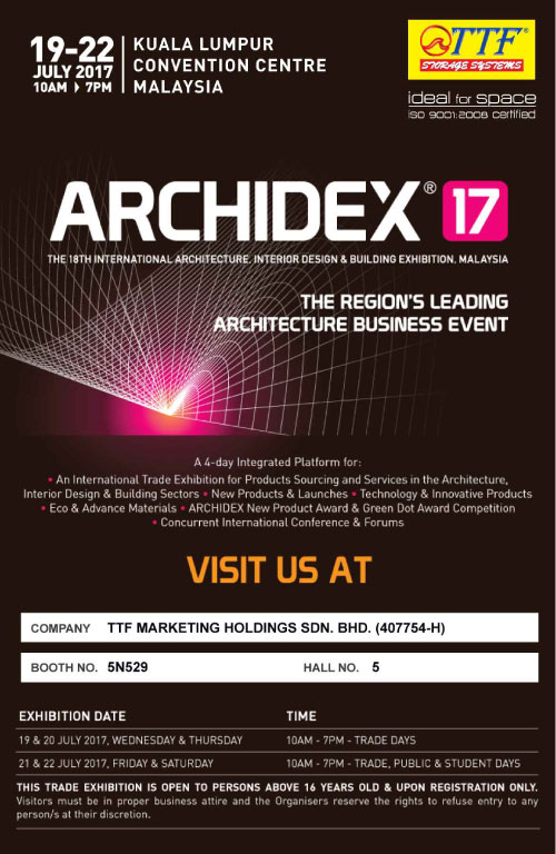 ARCHIDEX Exhibition on 19-22 July 2017