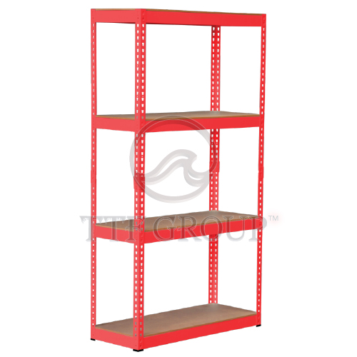Red Boltless DIY Rack | Storage Racks | Shelving Racks | Display Rack