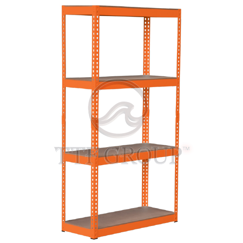 Orange Boltless DIY Rack | Storage Racks | Shelving Racks | Display Rack