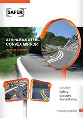 SAFER Stainless Steel Convex Mirror | Road Traffic Safety Mirror